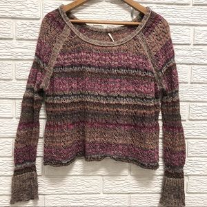 Free People | Cropped Boho Spring Sweater